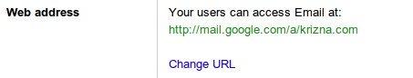 google apps CNAME setup