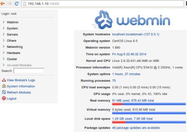 Install webmin on centos 6